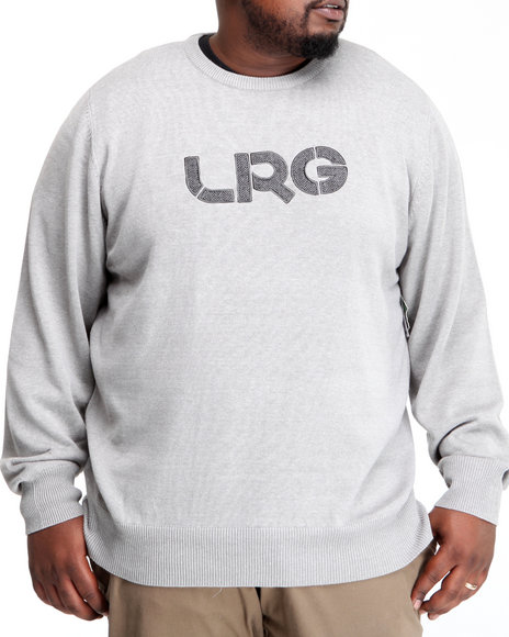LRG Men Grey Survivalist Cotton Sweater (B&T)
