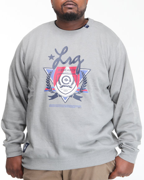 LRG Men Grey Elite Fleet Crewneck Sweatshirt (B&T)