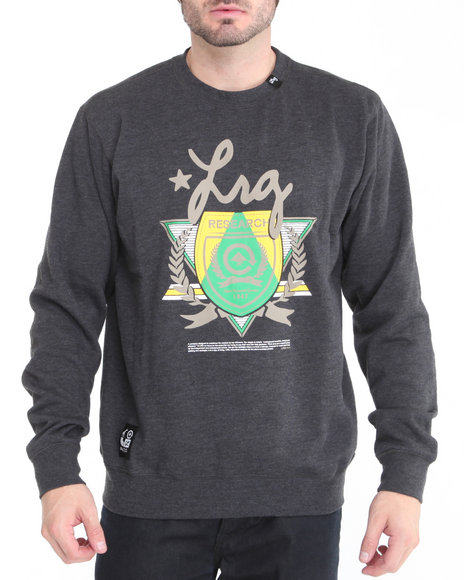 LRG Men Black Elite Fleet Crewneck Sweatshirt