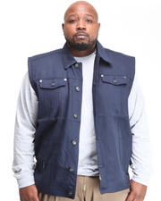 Big & Tall - Billy Jack Denim Vest (B&T)