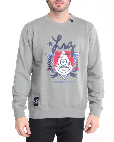LRG Men Grey Elite Fleet Crewneck Sweatshirt