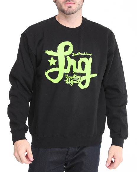 LRG Men Black L R G Limited - Edition Hard Knocks Crewneck Sweatshirt