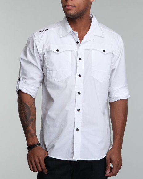 Enyce Men White Rush Shirt (B&T)
