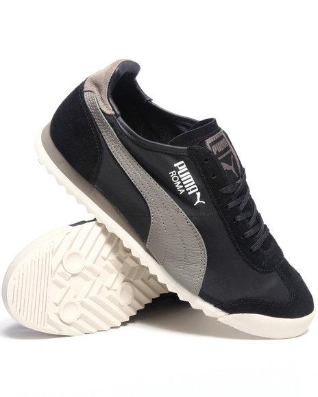 Puma Men Black Roma Slim Nylon Sneakers