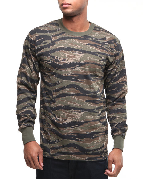 Rothco Camo Tiger Stripe Camo Long Sleeve Tee Shirt