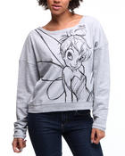 Women - Tinker Bell Long Sleeve Pullover
