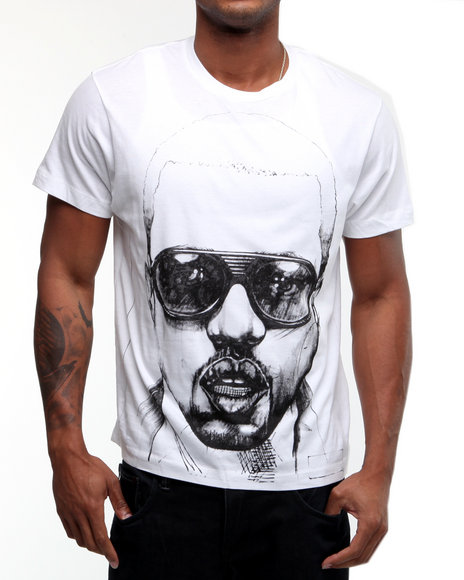 Drj Music Merch Men White Kanye West Ink Sketch Tee