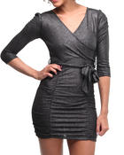 Women - Katie rouched crossover dress