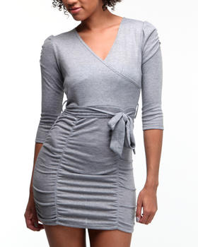Fashion Lab - Katie rouched crossover dress
