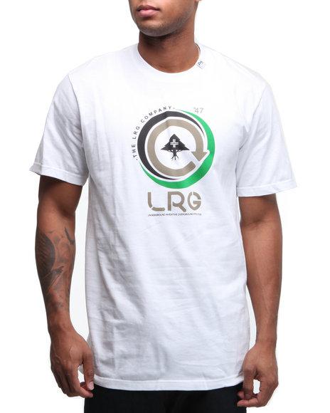 LRG Men White Clutch Shot S/S Tee