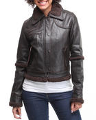 Women - Leather Flight Jacket