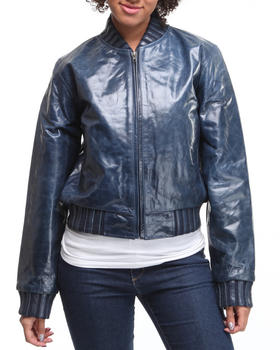 DRJ Leather Shoppe - Leather bomber jacket