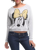 Outerwear - Minnie Mouse French Terry Long Sleeve Pullover