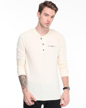 True Religion - Signature Logo Embroidery Jersey Henley