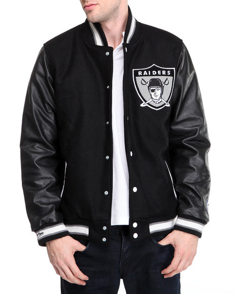 Mitchell & Ness - Oakland Raiders NFL Wool/leather Varsity Jacket (traditional fit)
