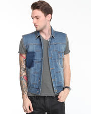 DJP OUTLET - Studly Denim Vest W/ Ovachievas Patch