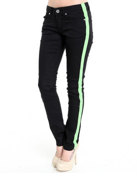 Basic Essentials - Tuxedo skinny jean pants