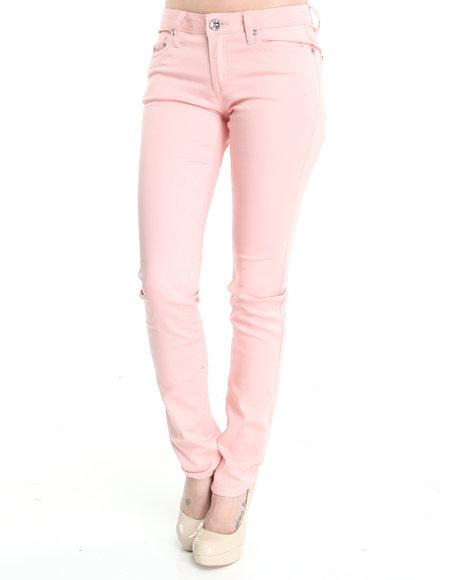 Basic Essentials - Women Pink Basic 5-Pocket Jean Pants