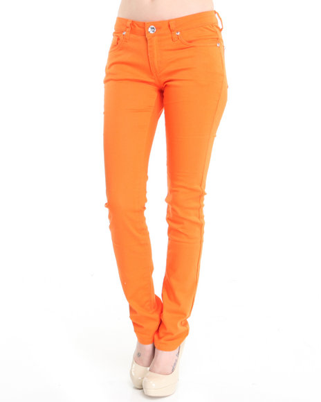 Basic Essentials Women Orange Basic 5-Pocket Jean Pants