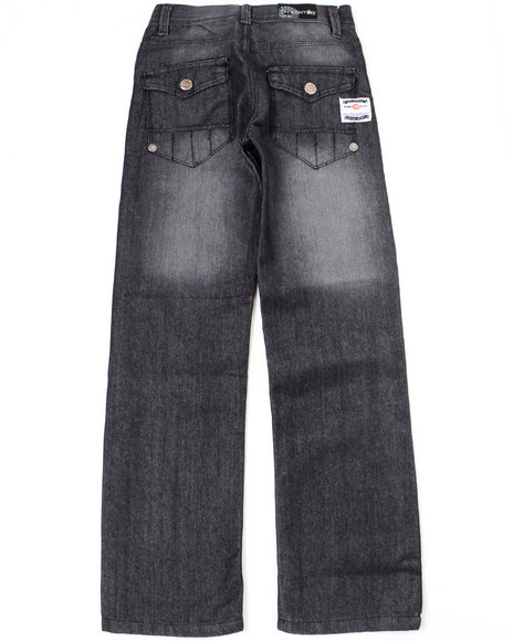 Akademiks Boys Black Garfield Jeans (8-20)