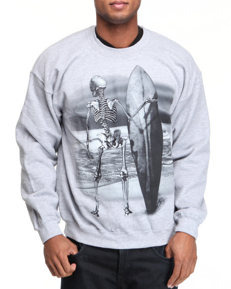 surfing board crewneck sweatshirt
