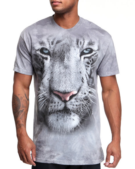 big face white tiger tee