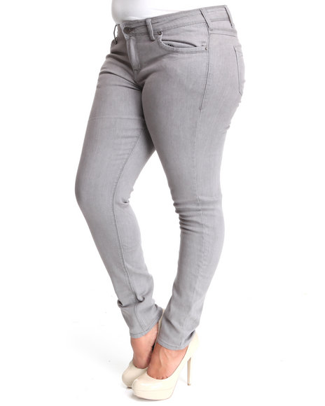 Basic Essentials Women Grey Basic Skinny Jean Pants