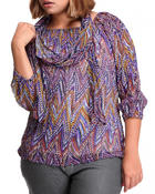Women - Top w/scarf (plus)