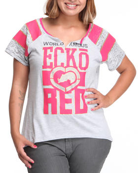 Ecko Red - Mix Fabric Baseball Tee