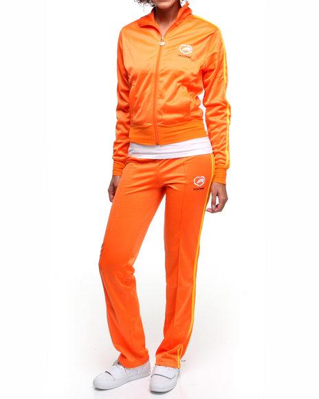 Ecko Red Women Orange Tracksuit Set W/Stripe Detail