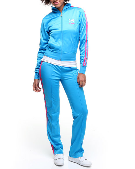Ecko Red Women Blue Tracksuit Set W/Stripe Detail