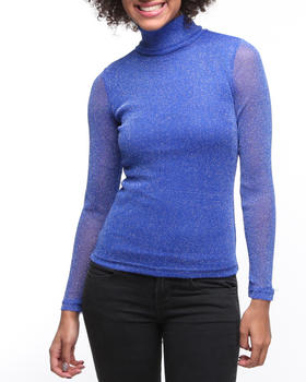 Fashion Lab - Parade long sleeve turtle neck top w/lurex detail