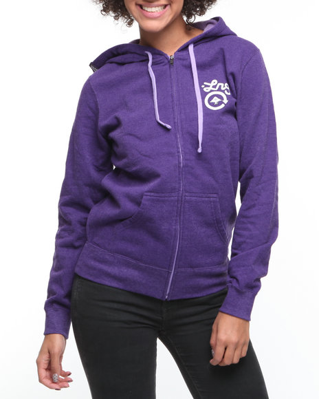 LRG Women Purple Western Classic Zip Up Hoodie