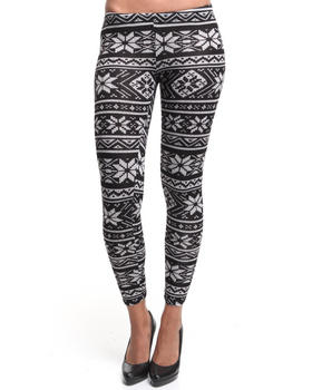 Fashion Lab - Snowflake sweater knit leggings