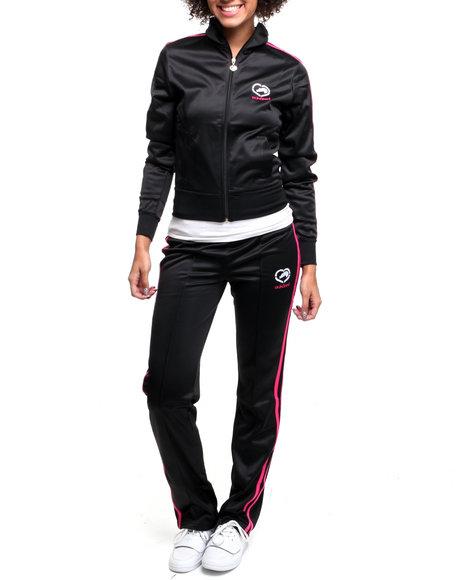 Ecko Red Women Black Tracksuit Set W/Stripe Detail