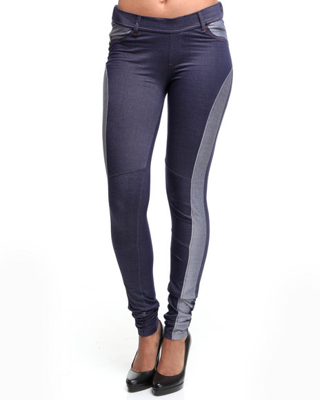 Ecko Red Women Dark Blue Knit Denim Jeggings