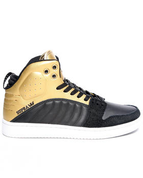 Supra - S1W Black Matte Leather Sneakers