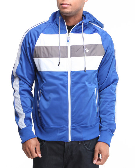 Rocawear Men Blue Electric Feel Track Jacket