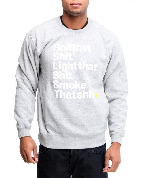 Wu-Tang Limited Men Grey Light That Crewneck Sweatshirt