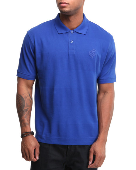 Rocawear Men Shadow Rider S/S Polo Blue Medium