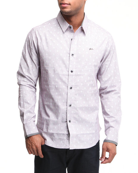 A Tiziano Men Grey Ezra Geometric Print Shirt