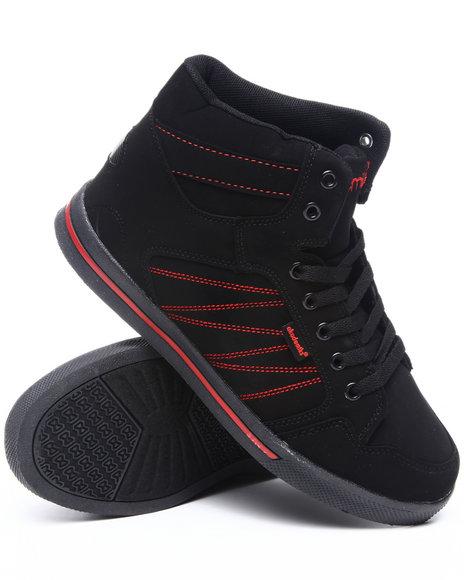 Akademiks Boys Black,Red Zig Zag Sneaker (Youth)