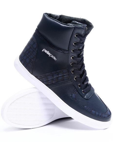Pelle Pelle Men Navy Pelle Wildcard Hightop Sneaker