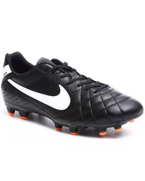 Nike Men Black,Orange,White Tiempo Natural Iv Fg Soccer Cleats Sneakers