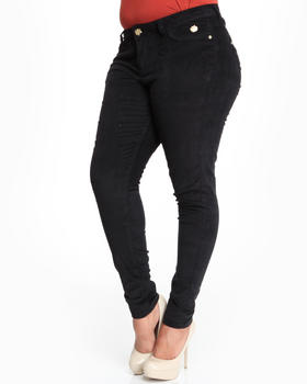 Apple Bottoms - Skinny Logo Stretch Corduroy Jean (Plus)