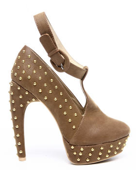 Fashion Lab - Bar exagerated heel pump w/studs