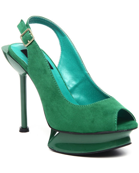 Fashion Lab Women Green Chrissy Sling Back Pump