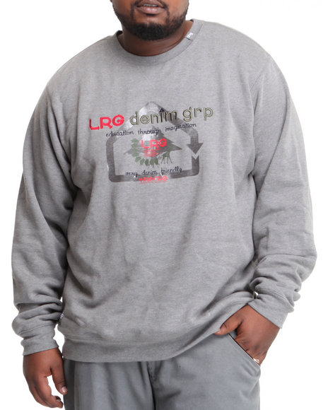 LRG Men Charcoal Very Denim Friendly Crewneck Sweatshirt (B&T)