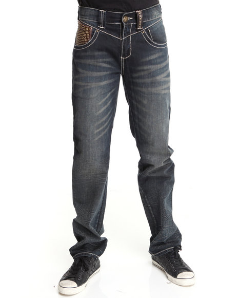 Pelle Pelle by Marc Buchanan Dark Wash,Brown The Limited Edition Denim Jeans (Personally Signed By Mark Buchanan)
