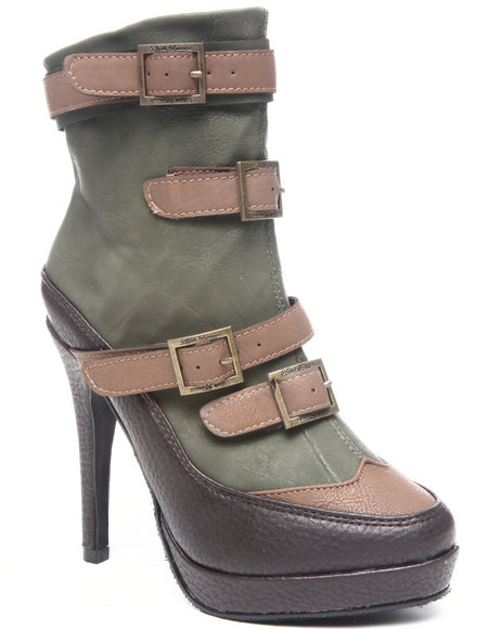 Apple Bottoms Women Forest Green,Brown Berry Bootie